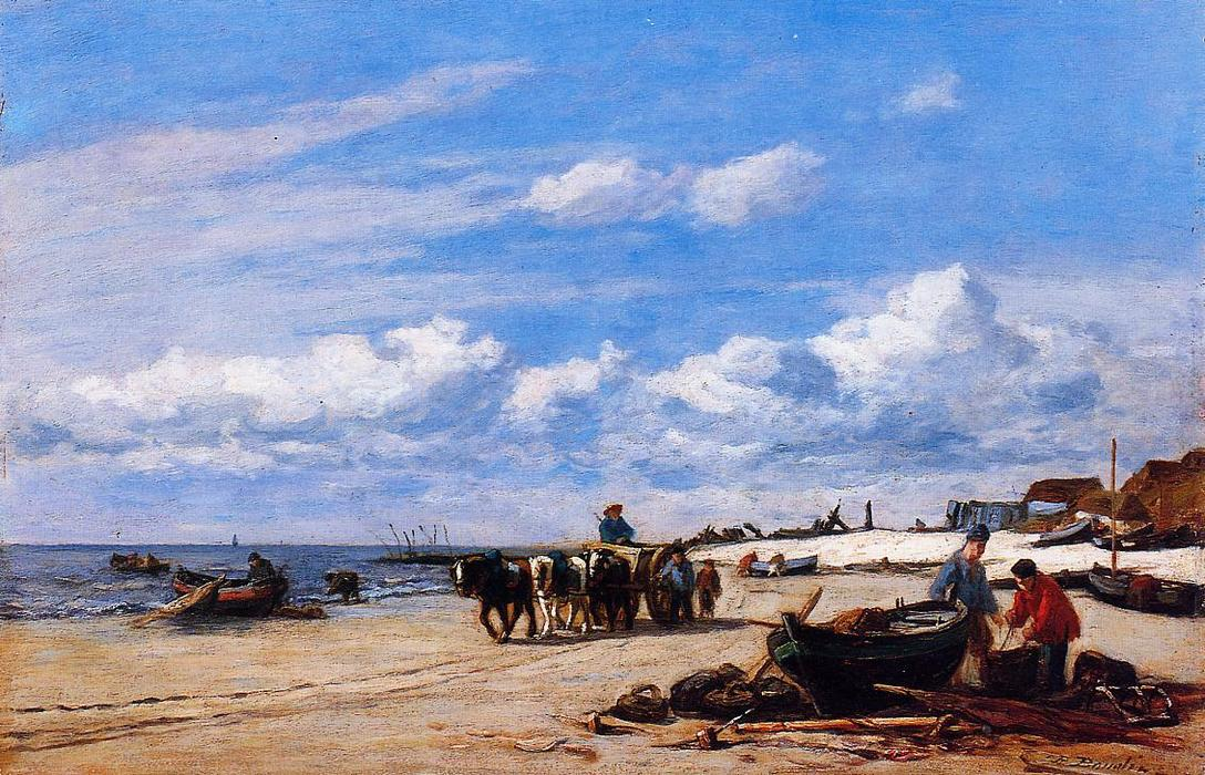 famous painting In the Vicinity of Honfleur of Eugène Louis Boudin