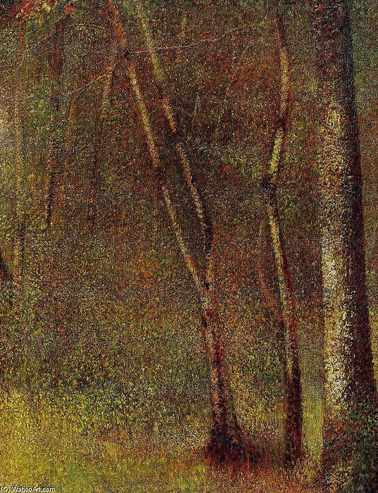 famous painting In the Woods at Pontaubert of Georges Pierre Seurat
