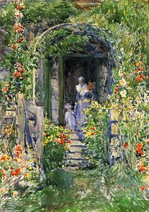 Frederick Childe Hassam - Isles of Shoals Garden (also known as The Garden in Its Glory)