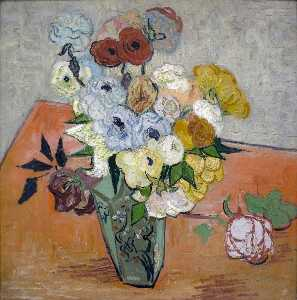 Vincent Van Gogh - Japanese Vase with Roses and Anemones