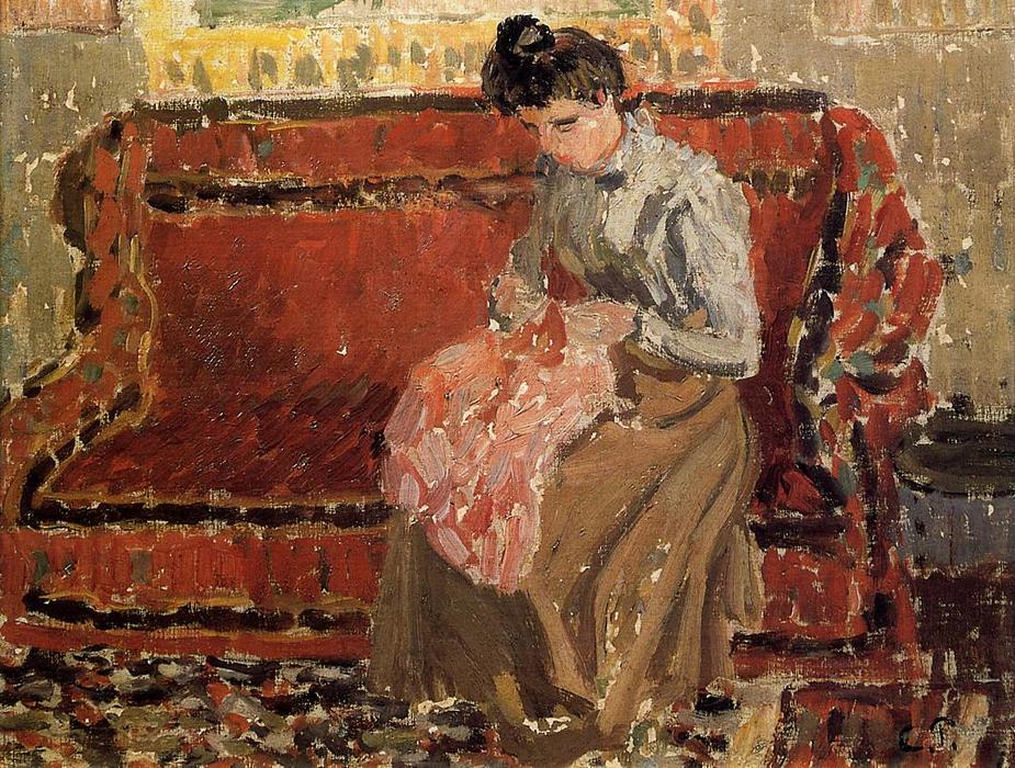 famous painting Jeanne Cousant of Camille Pissarro
