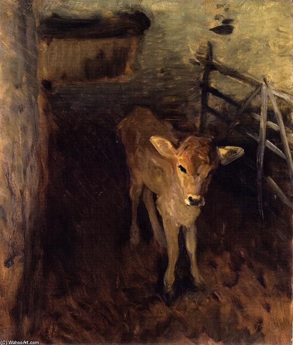 famous painting A Jersey Calf of John Singer Sargent
