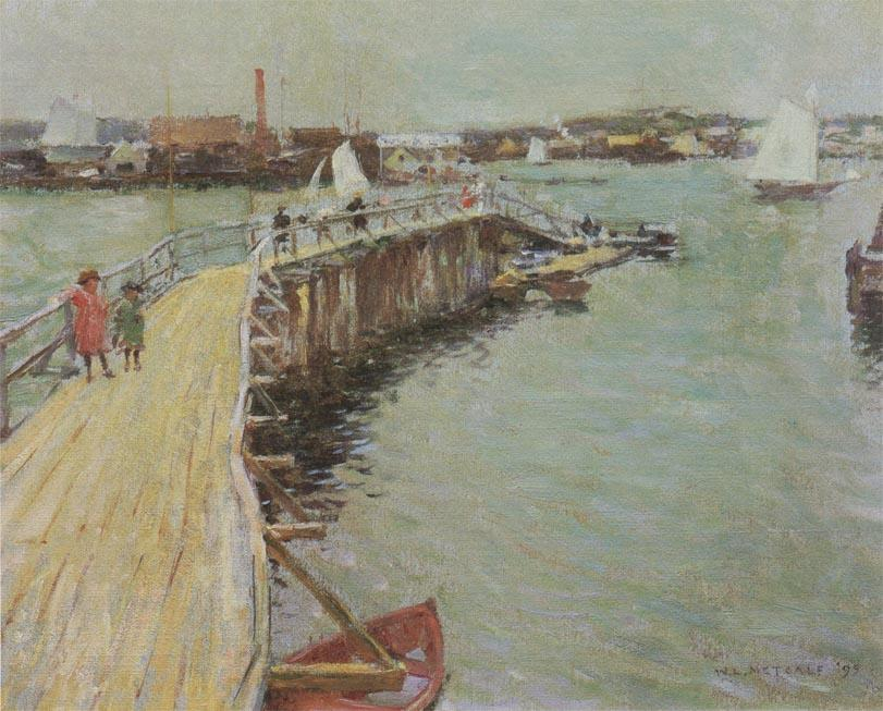 famous painting The Jetty of Willard Leroy Metcalf