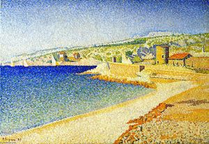 Paul Signac - The Jetty, Cassis, Opus 198
