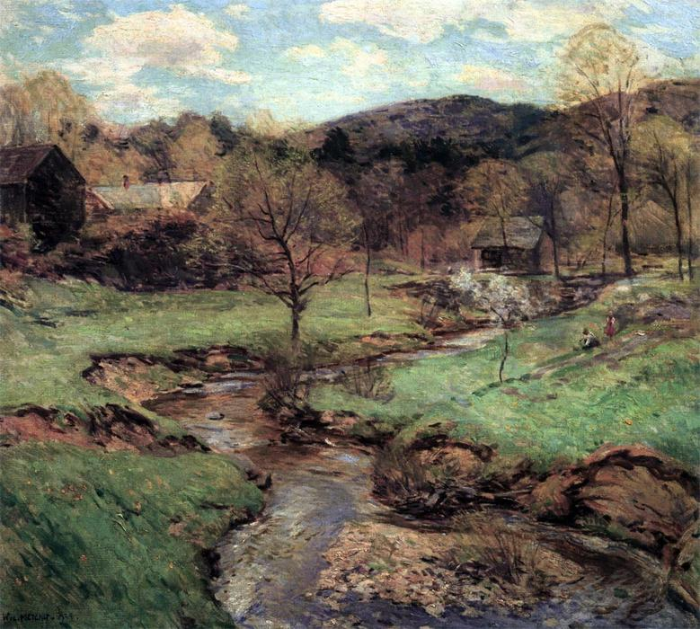 famous painting Joyous Maytime of Willard Leroy Metcalf