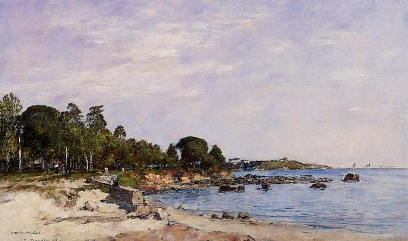 famous painting Juan-les-Pins, the Bay and the Shore of Eugène Louis Boudin