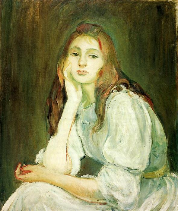famous painting Julie Daydreaming of Berthe Morisot