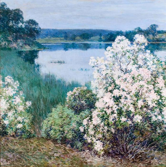 famous painting Kalmia of Willard Leroy Metcalf
