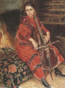 Akseli Gallen Kallela - Kirsti playing the cello
