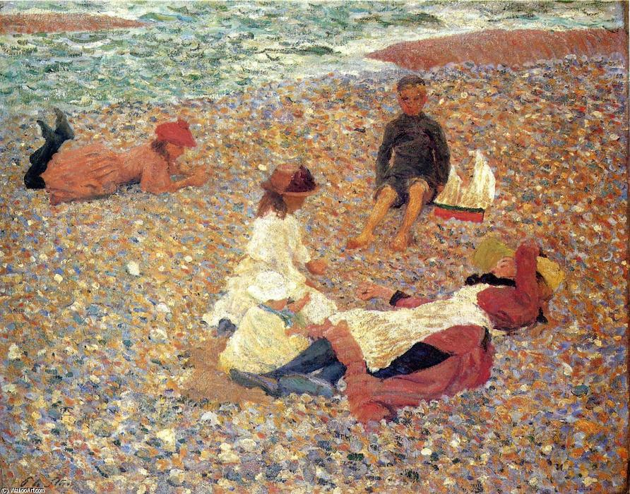 famous painting Knucklebones, Walberswick of Philip Wilson Steer