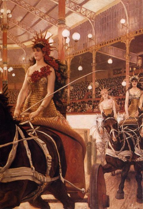 famous painting The Ladies of the Cars of James Jacques Joseph Tissot