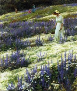 Charles Courtney Curran - Ladies on a Hill