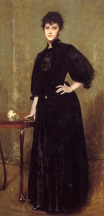 famous painting Lady in Black (also known as Mrs. Leslie Cotton) of William Merritt Chase