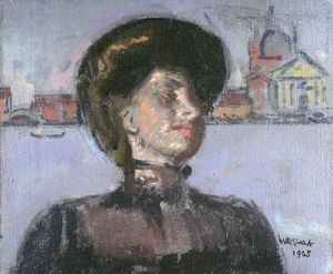 Walter Richard Sickert - The Lady in the Gondola