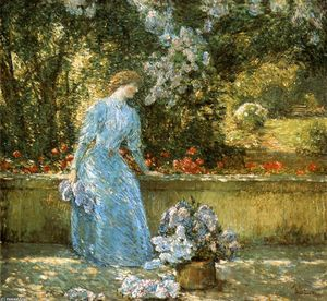 Frederick Childe Hassam - Lady in the Park (also known as In the Garden)