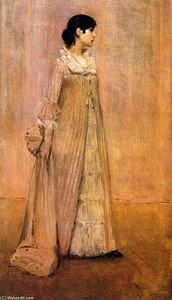 William Merritt Chase - Lady in Pink (also known as The Artist's Wife)