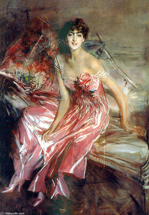 famous painting Lady in Rose of Giovanni Boldini