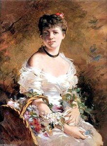 Giovanni Boldini - Lady with Flowers