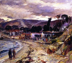 Joseph Kleitsch - Laguna on a Cloudy Day (also known as Main Beach)