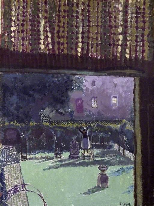 famous painting Lainey's Garden (also known as The Garden of Love) of Walter Richard Sickert