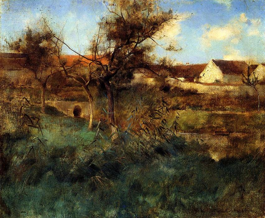famous painting Landscape of Willard Leroy Metcalf