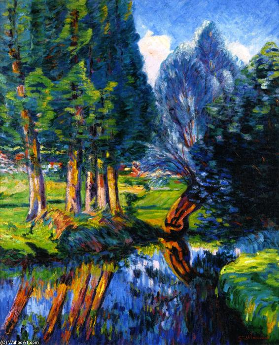 famous painting Landscape at Breuillet of Jean Baptiste Armand Guillaumin