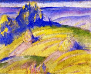 Franz Marc - Landscape: Foothills of the Alps