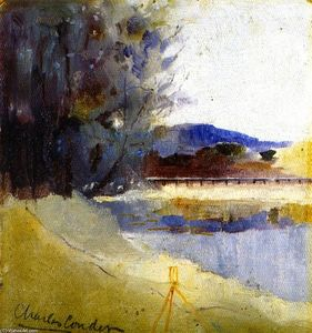 Charles Edward Conder - Landscape with Theodolite