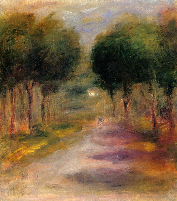 famous painting Landscape with Trees of Pierre-Auguste Renoir