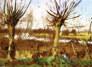 John Singer Sargent - Landscape with Trees, Calcot