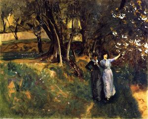 John Singer Sargent - Landscape with Women in the Foreground
