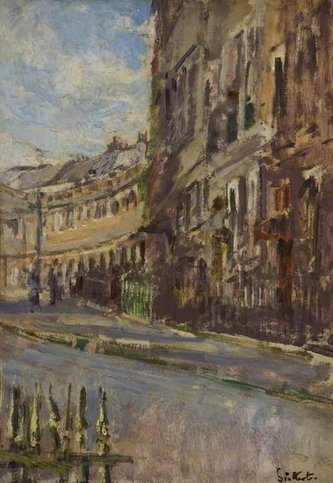 famous painting Lansdown Crescent, Bath of Walter Richard Sickert