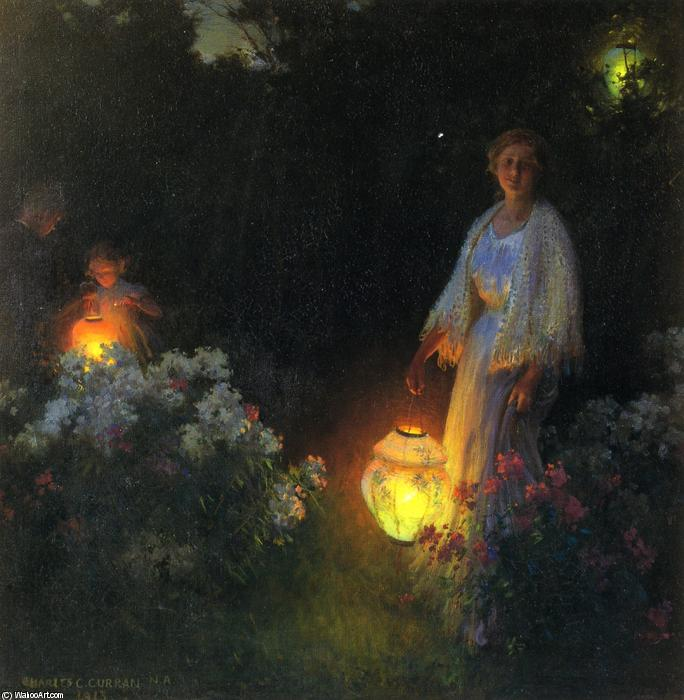 famous painting The Lanterns of Charles Courtney Curran