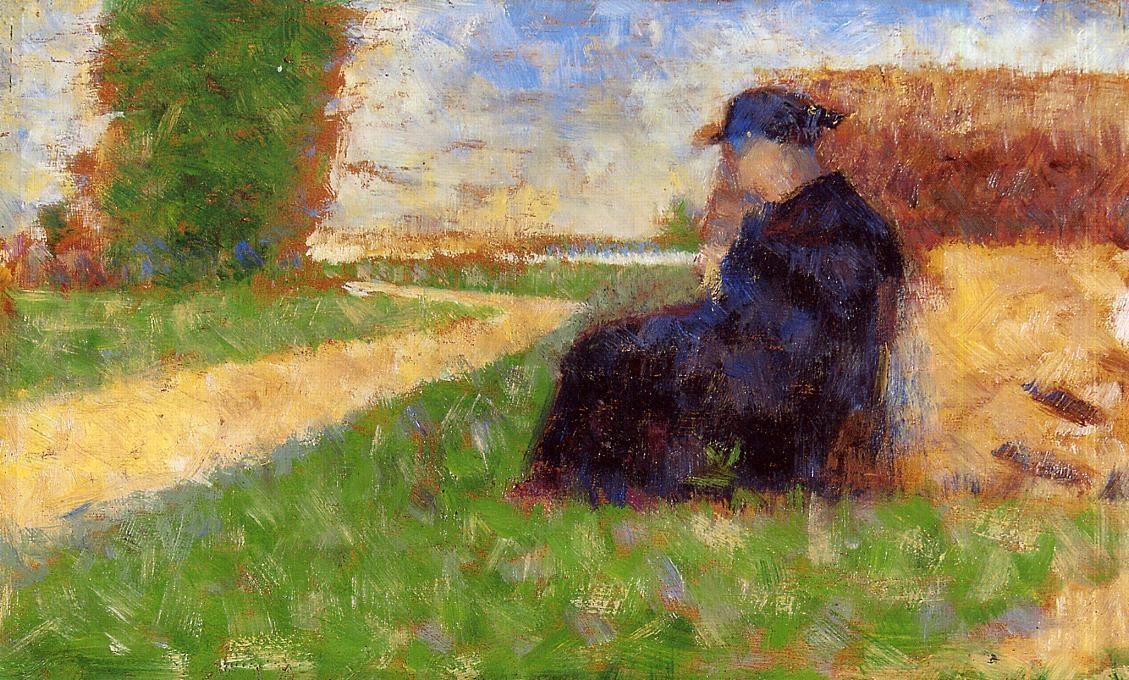famous painting Large Figure in a Landscape of Georges Pierre Seurat