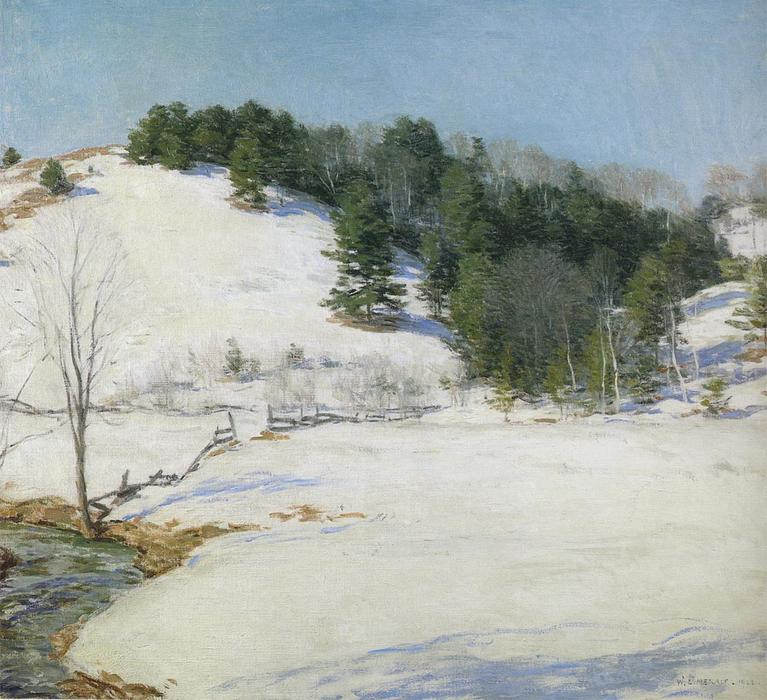 famous painting The Last Snow of Willard Leroy Metcalf