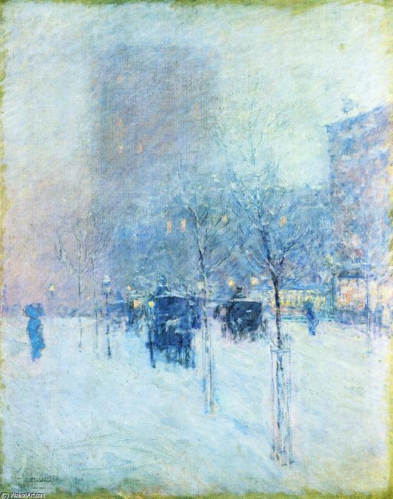 famous painting Late Afternoon, New York: Winter of Frederick Childe Hassam