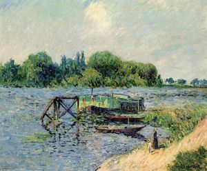 Gustave Loiseau - Laundry on the Seine at Herblay