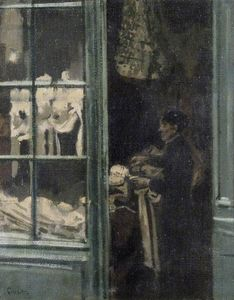 Walter Richard Sickert - The Laundry Shop, Dieppe, France