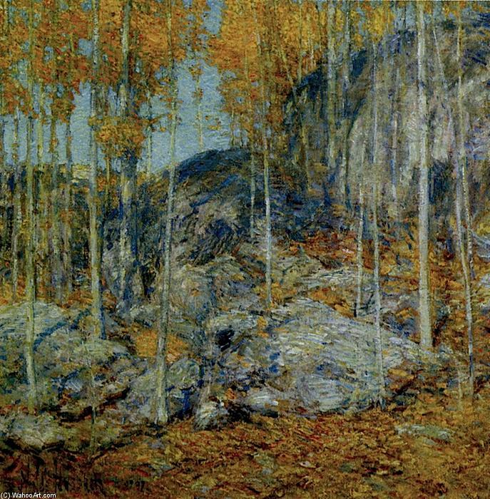 famous painting The Ledges, October in Old Lyme, Connecticut of Frederick Childe Hassam
