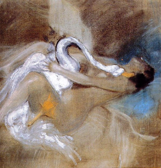 famous painting Leda with Swan of Giovanni Boldini