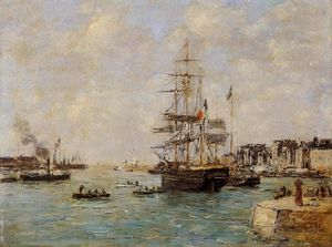 Eugène Louis Boudin - Le Havre, the Outer Port