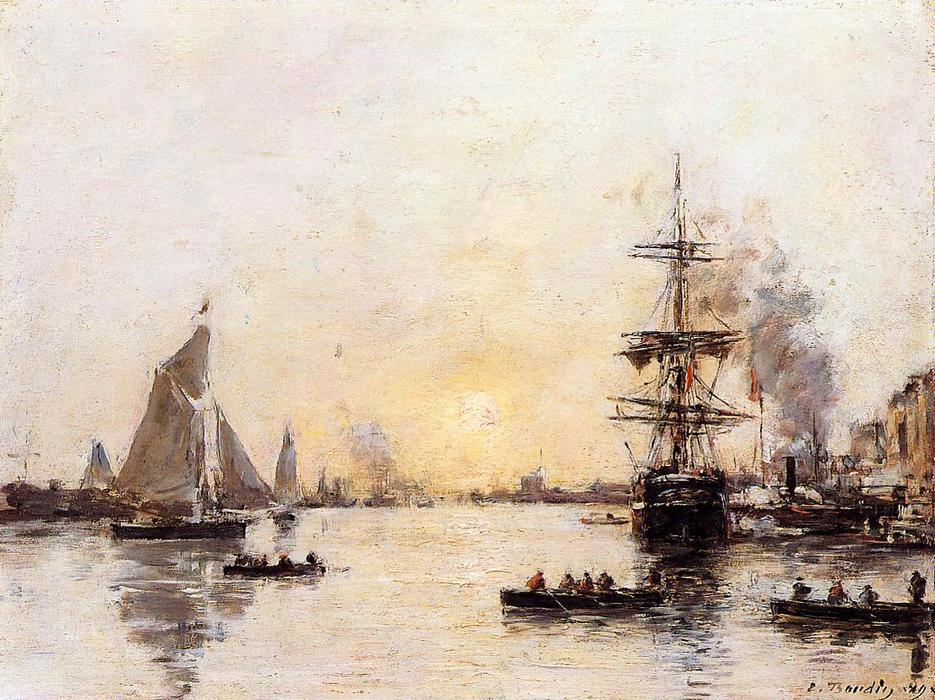 famous painting Le Havre, the Outer Port of Eugène Louis Boudin