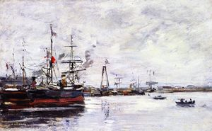 Eugène Louis Boudin - Le Havre, the Port