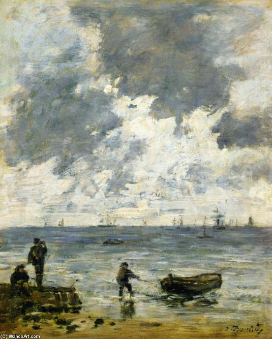 famous painting Le Havre, The Sea at Sunset of Eugène Louis Boudin
