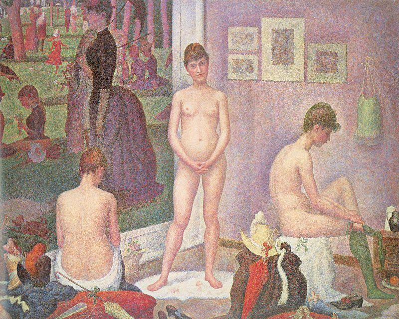 famous painting Les poseuses of Georges Pierre Seurat