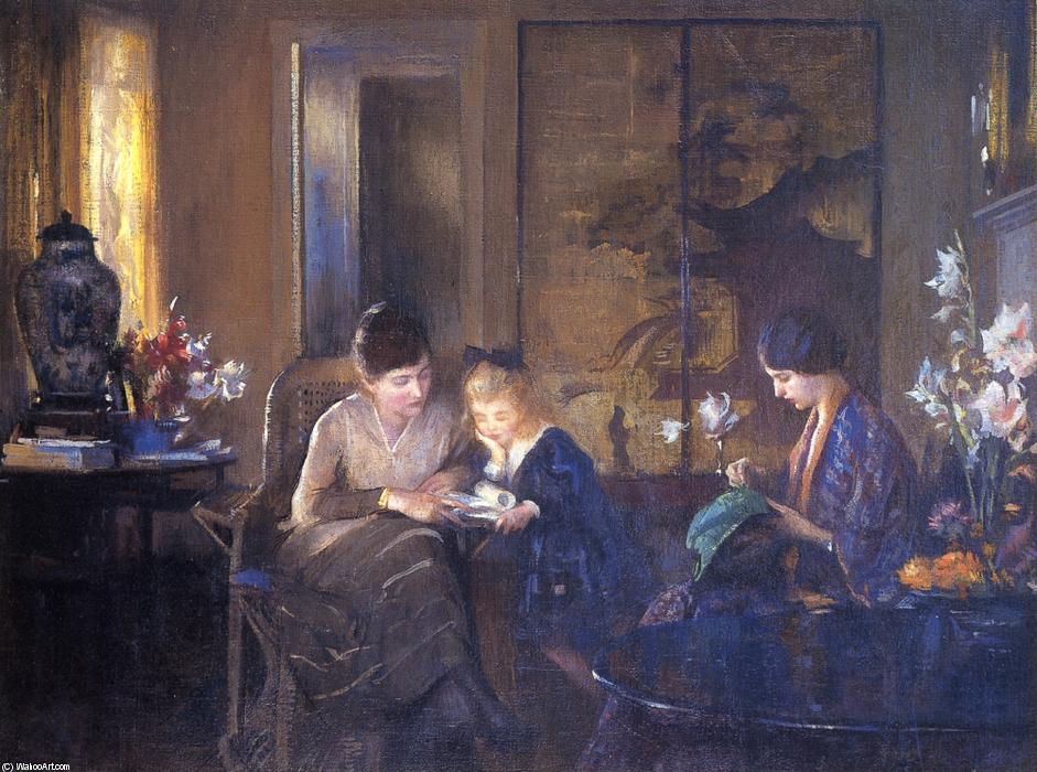 famous painting The Lesson of Edmund Charles Tarbell