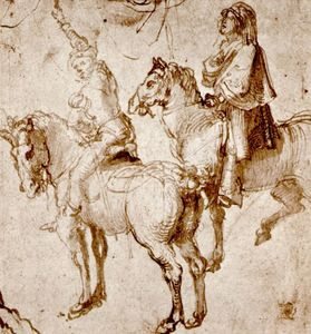 Albrecht Durer - Studies by two riders