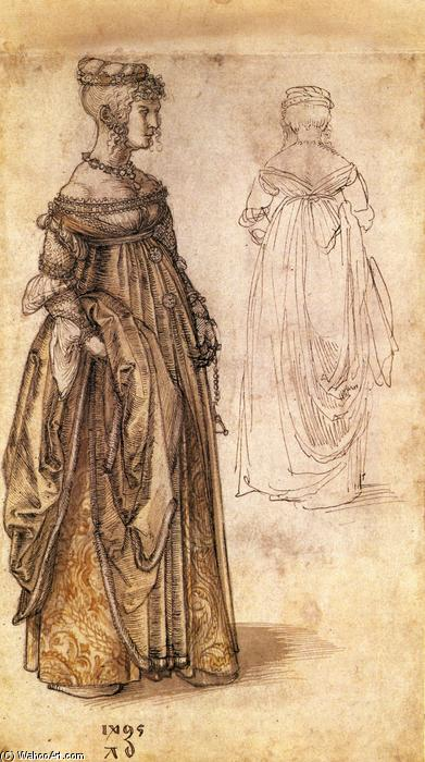 famous painting Two Venetian women of Albrecht Durer