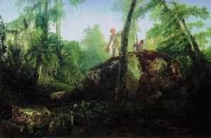 Aleksey Savrasov - Stone in the forest near the spill