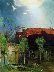 Aleksey Savrasov - Little House in the province. Spring